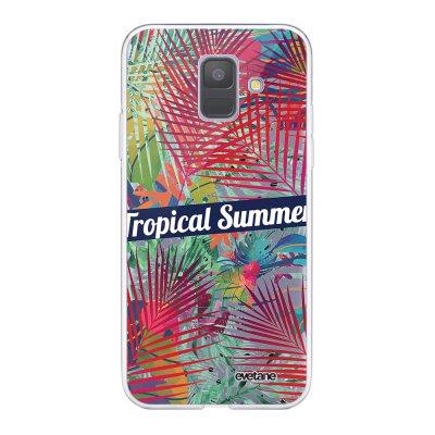 Coque Samsung Galaxy A6 2018 360 intégrale transparente Tropical Summer Ecriture Tendance Design Evetane.