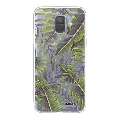 Coque Samsung Galaxy A6 2018 360 intégrale transparente Feuilles Exotiques Ecriture Tendance Design Evetane.