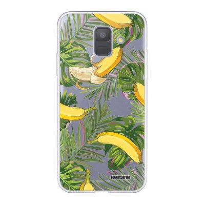 Coque Samsung Galaxy A6 2018 360 intégrale transparente Bananes Tropicales Ecriture Tendance Design Evetane.