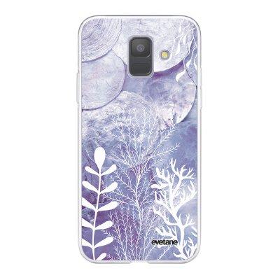 Coque Samsung Galaxy A6 2018 360 intégrale transparente Nacre et Algues Ecriture Tendance Design Evetane.