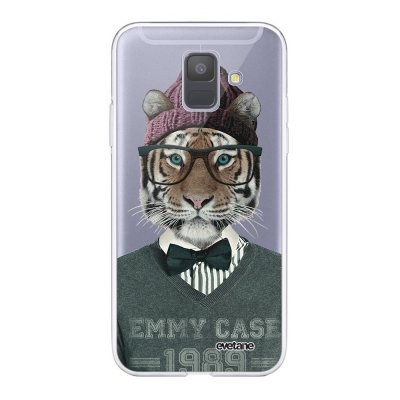 Coque Samsung Galaxy A6 2018 360 intégrale transparente Tigre Fashion Ecriture Tendance Design Evetane.