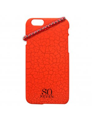 So Seven Coque Fluo Craquelee Orange + Bracelet Apple Iphone 6/6s