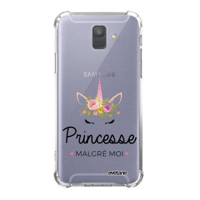 Coque Samsung Galaxy A6 2018 anti-choc souple avec angles renforcés transparente Princesse malgré moi 2019 Tendance Evetane...