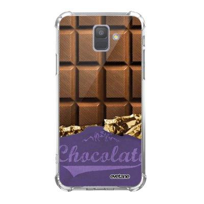 Coque Samsung Galaxy A6 2018 anti-choc souple avec angles renforcés transparente Chocolat Tendance Evetane...