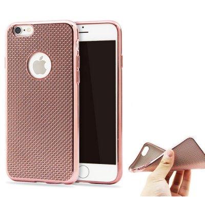 Coque silicone souple rose pour iPhone 6/6S