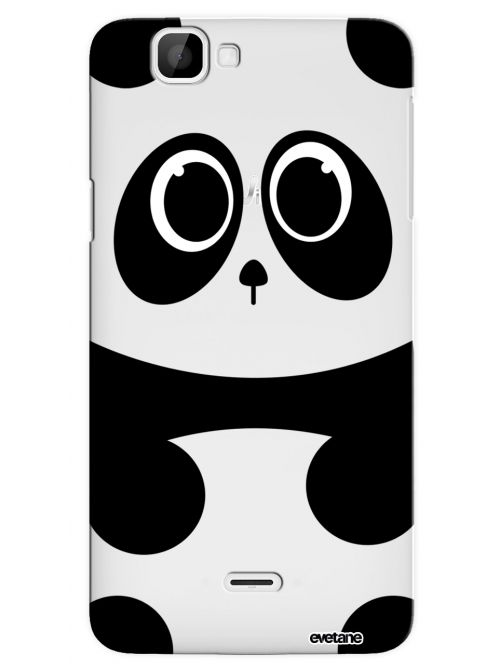 Coque Wiko Rainbow 4G rigide transparente Panda Dessin Evetane - Coquediscount
