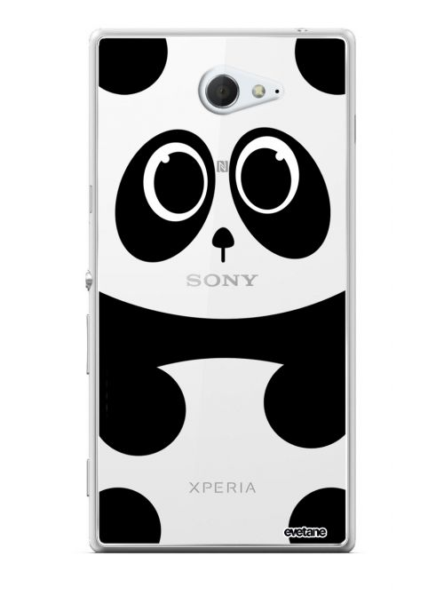 Coque Sony Xperia Z5 rigide transparente Panda Ecriture