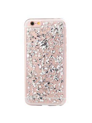 Coque silicone souple Pétales de Paillettes Argents pour iPhone 6/6S