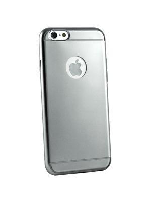 Coque silicone souple argent Effet Métal Brossé pour iPhone 6/6S