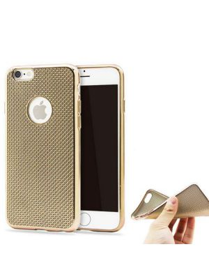 Coque silicone souple or pour iPhone 6/6S
