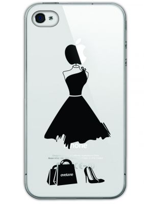 Coque transparente rigide My little black dress pour Apple iPhone 4/4S