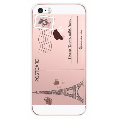 Coque transparente Carte postale pour Apple iPhone 5/5S