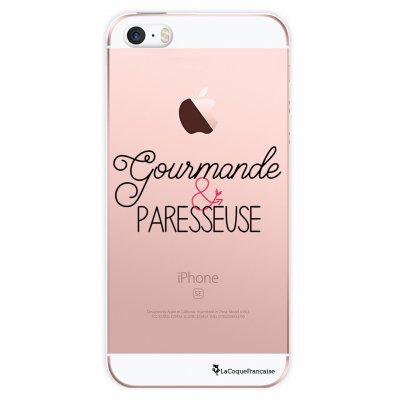 Coque transparente Gourmande et paresseuse pour Apple iPhone 5/5S