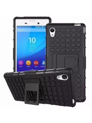 Coque anti-choc noire avec stand pour Sony Xperia M4 Aqua