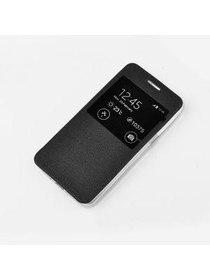 Etui S-View Flexi avec fenêtre noir pour Samsung Galaxy S6 Edge +