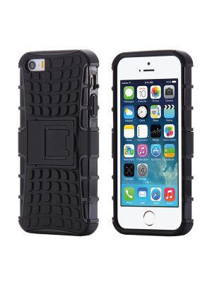 Coque anti-choc noire avec stand pour iPhone 5/5S/SE