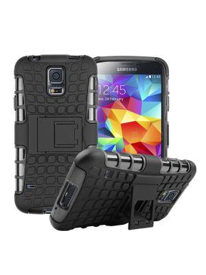 Coque anti-choc noire avec stand pour Samsung Galaxy S5