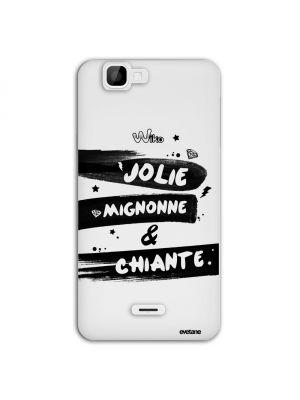 Coque transparente Jolie, Mignonne & Chiante pour Wiko Rainbow 4G