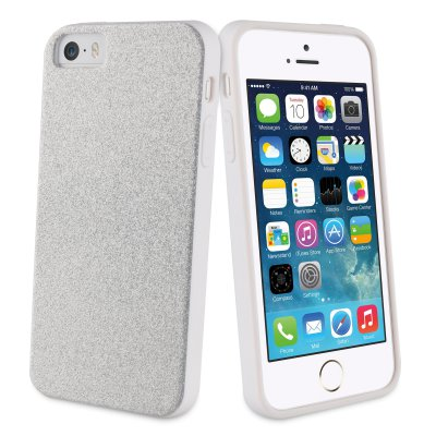 Muvit Life Bling Glitter Coque Pailletee Silver Apple Iphone 5s/se