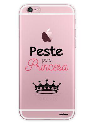 Coque transparente Perra Pero Princesa pour iPhone 6/6S - Espagnol