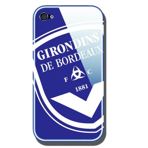 coque arriere glossy bleue girondins de bordeaux pour iphone 4 4s