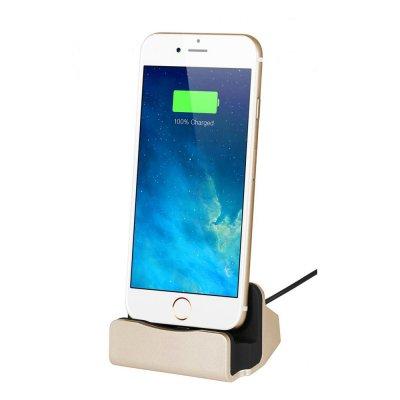 Dock de chargement et de synchronisation Lightning Gold pour iPhone 5/5C/5S/6/6S/6+/6S+