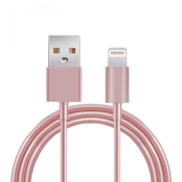 Câble USB Lightning Rose Gold pour iPhone 5/5C/5S/6/6S/6+/6S+ & iPad 4/Mini/Air