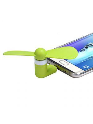 Mini ventilateur Vert USB & Micro USB