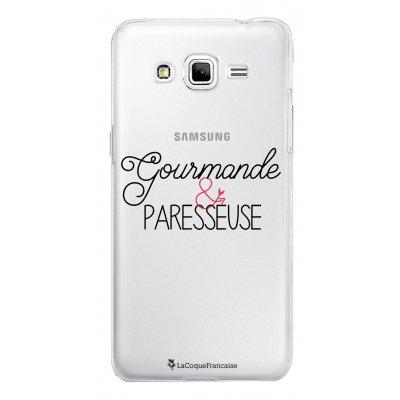 Coque transparente Gourmande et paresseuse pour Samsung Galaxy Grand Prime