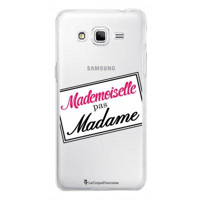 Coque transparente Mademoiselle pas madame pour Samsung Galaxy Grand Prime