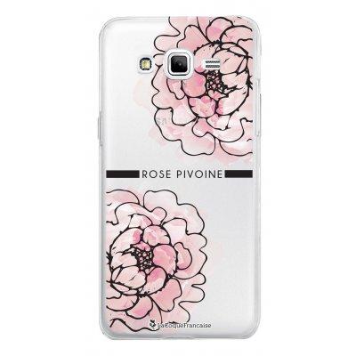 Coque transparente Rose pivoine pour Samsung Galaxy Grand Prime