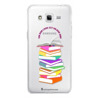 Coque transparente Livres pour Samsung Galaxy Grand Prime