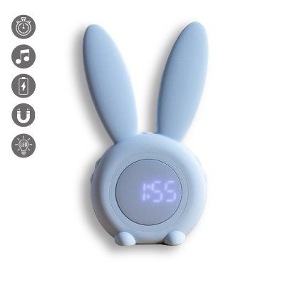 Radio réveil et veilleuse lapin blanc