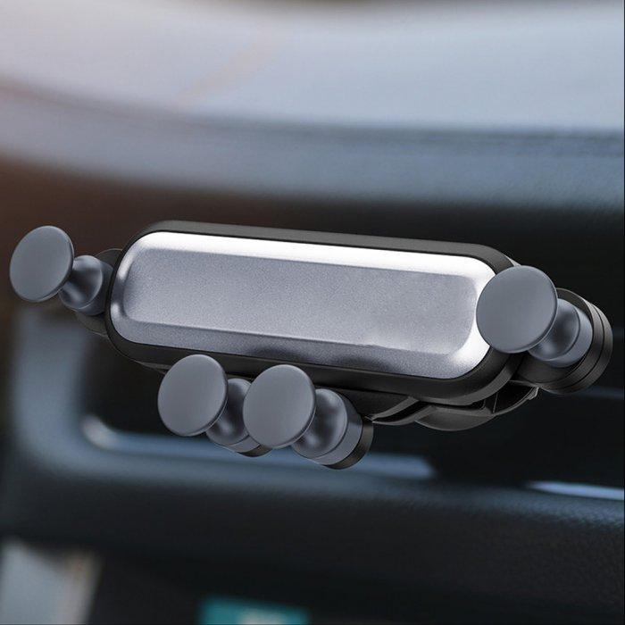 Support voiture magnétique universel grille d'aération-Argent