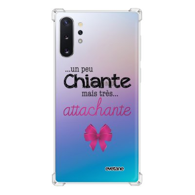 Coque Samsung Galaxy Note 10 Plus anti-choc souple avec angles renforcés transparente Un peu chiante tres attachante Tendance Evetane