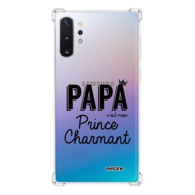 Coque Samsung Galaxy Note 10 Plus anti-choc souple avec angles renforcés transparente Papa c'est mon prince charmant Tendance Evetane