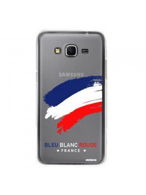 Coque rigide transparent France pour Samsung Galaxy Grand Prime