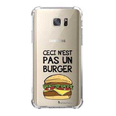Coque Samsung Galaxy S7 anti-choc souple avec angles renforcés Ceci n'est pas un Burger Tendance La Coque Francaise