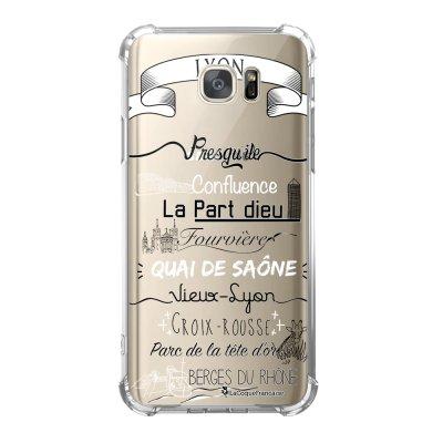 Coque Samsung Galaxy S7 anti-choc souple avec angles renforcés Quartiers de Lyon Tendance La Coque Francaise