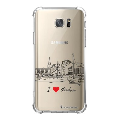 Coque Samsung Galaxy S7 anti-choc souple avec angles renforcés I love Redon Tendance La Coque Francaise