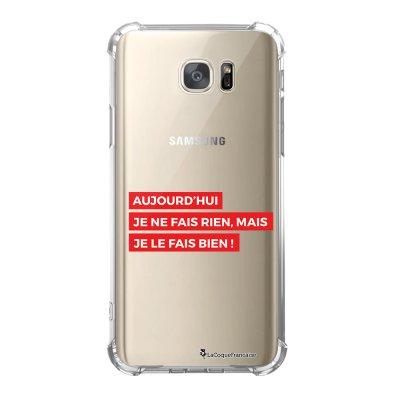 Coque Samsung Galaxy S7 anti-choc souple avec angles renforcés Aujourd'hui rouge Tendance La Coque Francaise