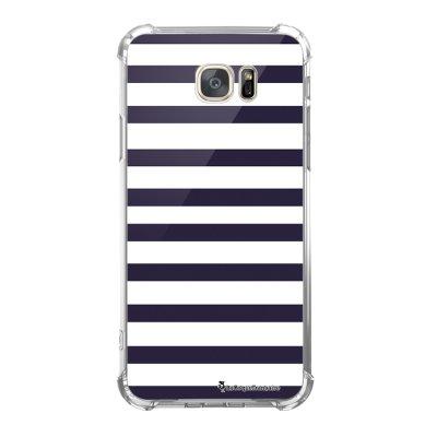 Coque Samsung Galaxy S7 anti-choc souple avec angles renforcés Marinière Bleue Tendance La Coque Francaise