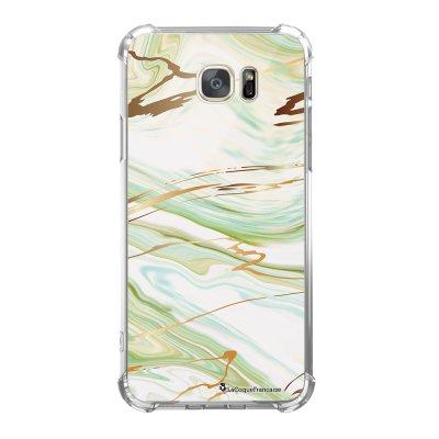 Coque Samsung Galaxy S7 anti-choc souple avec angles renforcés Marbre Vert Tendance La Coque Francaise