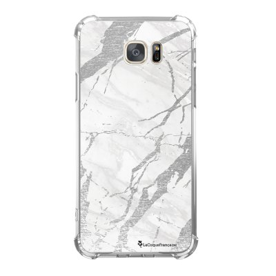 Coque Samsung Galaxy S7 anti-choc souple avec angles renforcés Marbre gris Tendance La Coque Francaise