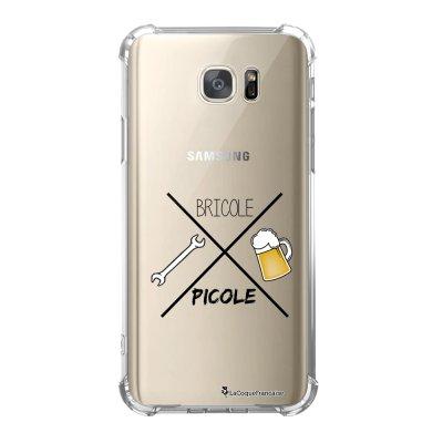 Coque Samsung Galaxy S7 anti-choc souple avec angles renforcés Bricole et picole Tendance La Coque Francaise