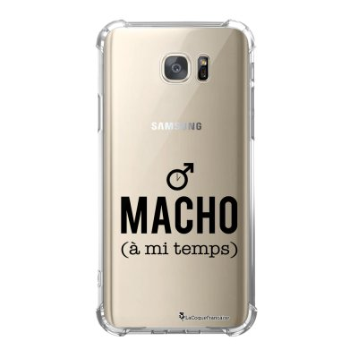 Coque Samsung Galaxy S7 anti-choc souple avec angles renforcés Macho a mi temps Tendance La Coque Francaise