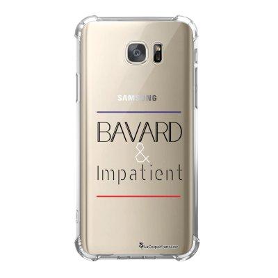 Coque Samsung Galaxy S7 anti-choc souple avec angles renforcés Bavard et impatient Tendance La Coque Francaise
