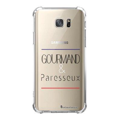 Coque Samsung Galaxy S7 anti-choc souple avec angles renforcés Gourmand et paresseux Tendance La Coque Francaise