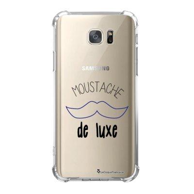 Coque Samsung Galaxy S7 anti-choc souple avec angles renforcés Moustache de luxe Tendance La Coque Francaise
