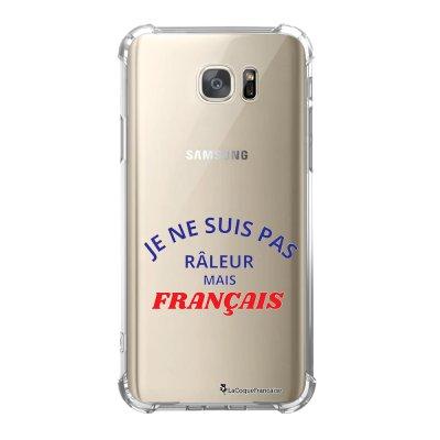 Coque Samsung Galaxy S7 anti-choc souple avec angles renforcés Râleur mais Français Tendance La Coque Francaise